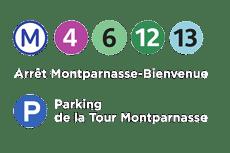 Accès métro et parking Cabaret César Palace Paris