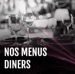 Menus diners Cabaret Diner Spectacle Paris