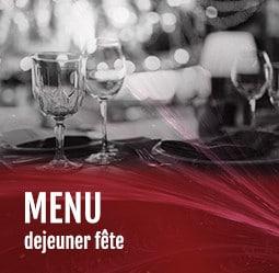 Menu déjeuner fête Cabaret César Palace Paris