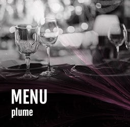 Menu Plume Cabaret Diner spectacle Paris