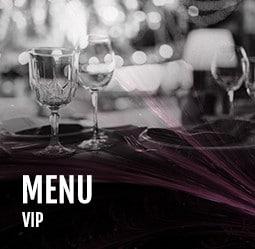 Menu VIP Cabaret Diner spectacle Paris